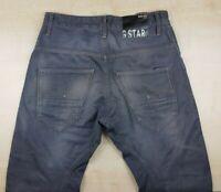 G-Star Raw Herren Arc Loose Tapered Jeans W33 L32 Schwarz Stretch Hose