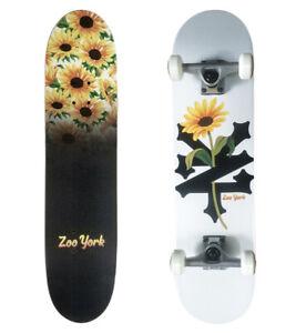 SKATEBOARD, ZOO YORK COMPLETE SKATEBOARD  SUNFLOWER 7.75 x31.5,  SKATE