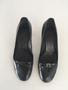 Bally - Classic Elegant Shoes Pumps Heels Black Leather 39.5 / 9