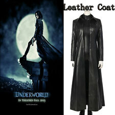 Underworld: Blood Wars Cosplay Costume Vampire Warrior Selene Leather Long Coat
