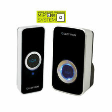Lloytron B7505BK Wireless Cordless Door Bell Plug-In Chime 150m *32 Melody*Black