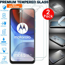 2 Pack of TEMPERED GLASS Screen Protectors Cover for Motorola Moto E7i Power