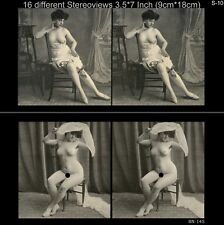 16 Akt - Stereofotos klassik Nude, Paris 1910, Lot 10, Stereoviews France