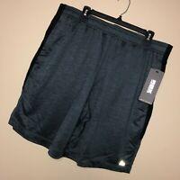 New RBX XL Mens Shorts Gray Black Training Basketball Pockets Drawstring $45  A2