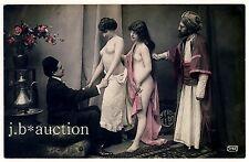 NUDE WOMEN'S HAREM RECEPTION / WILLKOMMEN IM ORIENT * NACKT * Vintage 10s RPPC