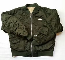 686 Mens Bomber Ski Coat Jacket M/L Army Green Reversible