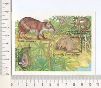 36765) Grenada Grenadines 1990 MNH Animals Mongoose S/S