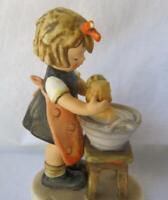 M I Hummel Goebel DOLL BATH Large Porcelain Figurine Germany Mold 319 TMK 7