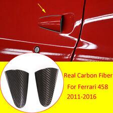 Real Carbon Fiber Exteiror Side Door Handle Cover Trim For Ferrari 458 2011-2016
