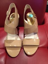 MICHAEL by Michael Kors MK Nude Elisa Patent Leather Sandals sz. 9