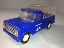 """STRUCTO Blue US AIR FORCE Jeep Truck 8 3/4"""" Covered Troop Transport Vehicle Toy"""