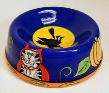"Catzilla Ceramic Cat Food Dish Water Bowl Candace Reiter 5"" Halloween"