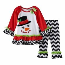 NWT Girls 24m RARE EDITIONS Holiday Snowman Tunic and Pants Set