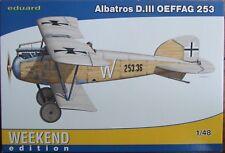 EDUARD 1/48 ALBATROS D.III OEFFAG 253 Weekend Edition 84152 WWI kit. *NEW*