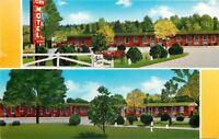 Blountsville Alabama~Town Motel~1950s Postcard