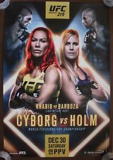 Official UFC 219 Cyborg vs Holm Poster 27x39 (Near Mint)