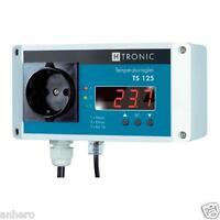 Temperaturschalter,Temperaturregler,Thermostat TS 125, dig.Anzeige, Steckdose
