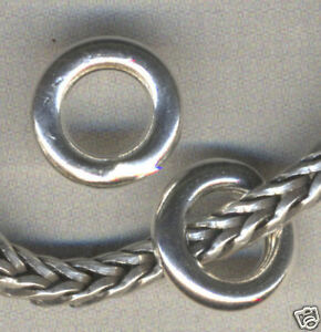 Sterling Silver Circlet Spacer Beads for Charm Bracelet