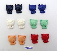Gatito Forma Hello Kitty Pendientes a Elegir Color Y Fijación Ideal Niños