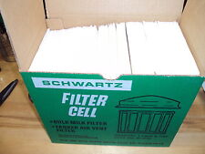 SCHWARTZ Air Vent Vertical Filters, Cells, 4729,Cage & Cap Assembly,box of 100