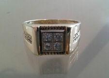 Men's 10k Yellow Gold 1/3 Carat Diamond Ring -Free Sizing -Free Shipping  (SI-H)