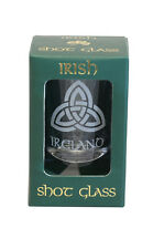 Irish Shot Glass - Trinity Knot  Etched Design