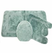 New Usa Made Facet Aqua Blue Bath Rug Set - Individual Bath Rugs also available!