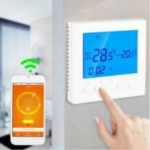 Button LCD WiFi Smart Programmable Thermostat Electric Heating App Control UK