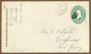 New Mexico Territory Postal Cover, 1893, Albuquerque, Glorieta, RPO Cancel