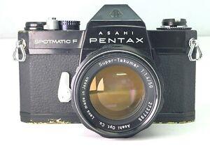 【As-is】Asahi Pentax Spotmatic F Spf w/ Super Takumar 50mm f1.4 from JAPAN