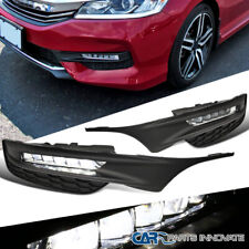 For 16-17 Accord Sedan 4Dr Clear SMD LED Fog Lights Bumper Driving Lamps+Switch
