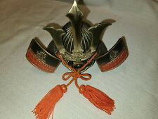 Japanese Kabuto Samurai Warrior Helmet Armor Replica Miniature Cast Iron