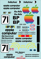 1/10 Apple Computer Decal Sticker for Classic Porsche 935 Group 5 RC Touring Car