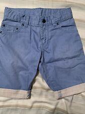 New Boys Adjustable Waist Khaki Blue Shorts Size Regular 5
