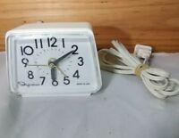 Vintage Ingraham Travel Electric Alarm Clock 49-009