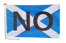 More details for scotland independence no vote flag with rope and toggle - various sizes