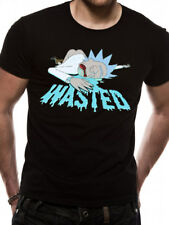 Rick and Morty Wasted Official Adult Swim Black Mens T-shirt