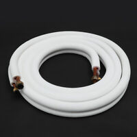 5m 5/8 3/8 Insulated Coil Copper Twin Line Set Air Conditioner Split Pipes Tube