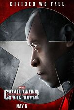 Captain America Civil War Movie Poster (24x36) - Don Cheadle, War Machine v9
