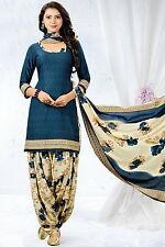Elegant Crepe Designer Printed Patiala Unstitched Dress Material Suit.No GP256