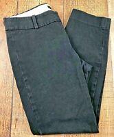 """J. CREW  Minnie Stretch Black Women's Pants Size 0  27x23"""""""