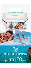 HP Computers Sprocket Features ZINK Sticky-Backed Digital Photo Paper 20 Sheets