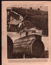 WWI Sous-Marin Submarine U-Boot U.C.-5 New-York City USA 1915 ILLUSTRATION