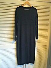 COS Acanalado Vestido Ajustado en Negro, Talla M, Reino Unido 10-12-14, RRP £ 79, usado una vez