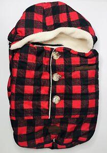 BundleMe Car Seat Stroller Shell Plaid Red Black JJ Cole Infant Polyester Holder