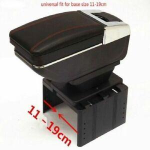 UNIVERSAL ARMREST CONSOLE FIT CAR VAN BOX MOST CARS BLACK VANS ECO LEATHER NEW 1