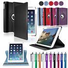 Für iPad Air 2 360° Smart Case + Folie Cover Schutz Hülle Etui Tasche Schale