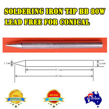 SOLDER SOLDERING IRON Tip 80W BB for Lead Free for conical Leadlight Glass Win
