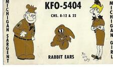 Vintage Citizens Band Radio QSL Contact Card PC - Michigan - KFO-5404 - Sargent