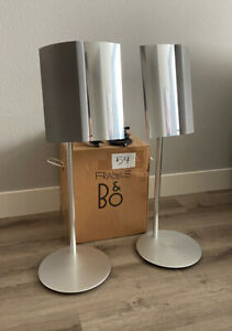 Bang & Olufsen BeoLab 4000 Speakers, Stands, Wiring, Original Box - No. 6638